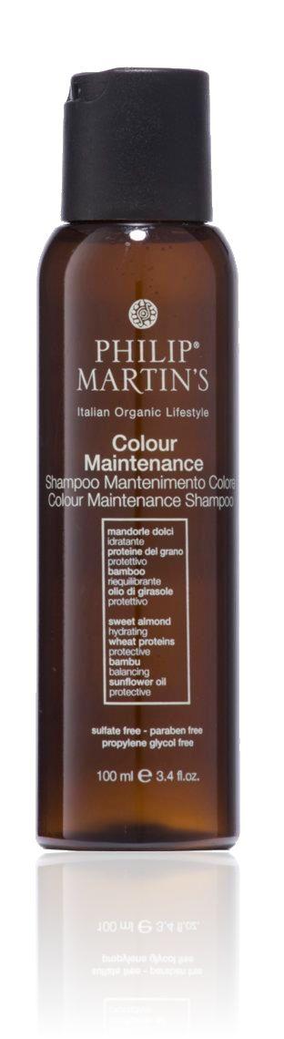 Shampoo speciaal voor gekleurd en behandeld haar. Revitaliseert de haarkleur en doet het weer opleven. Bevat plantaardige oppervlakte-actieve stoffen en heeft natuurlijke conditionerende eigenschappen die de glans versterken en het haar zijdezacht maken. Bevat de geur van mint en verbena en is volledig vrij van sulfaten en parabenen.  GEBRUIK: Breng een notendop aan op nat haar en masseer in tot er een dikke schuim ontstaat. Uitvoerig uitspoelen. www.philipmartins.biz & .be