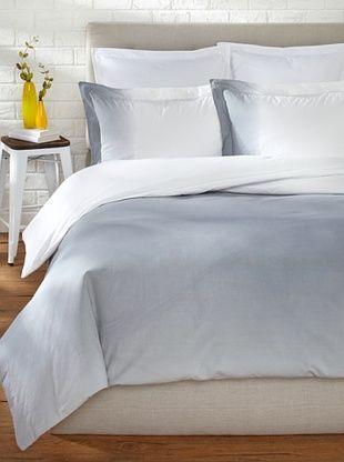 73% OFF OYO Bedding Dip-Dye Percale Duvet Set (Grey/White)