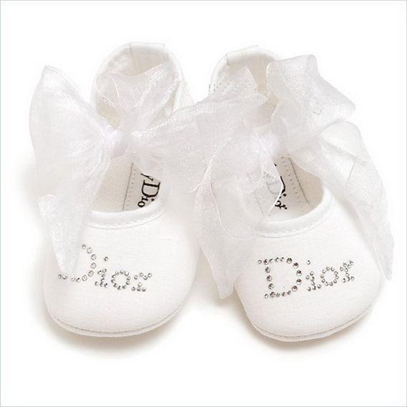 Baby Dior Ballet Flats. www.luxbub.com