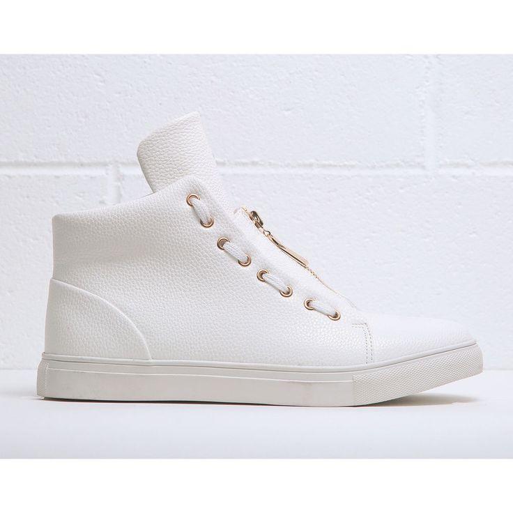 Duca di Morrone Men's High Top Sneakers WHITE #DucadiMorrone #FashionSneakers