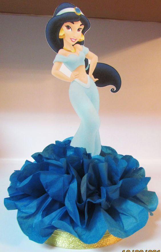 Aladdin Jasmine Princess Centerpiece  by KhloesKustomKreation, $12.00: