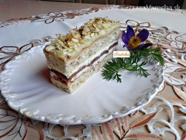 Orechovo-tvarohové rezy (fotorecept) - Recept