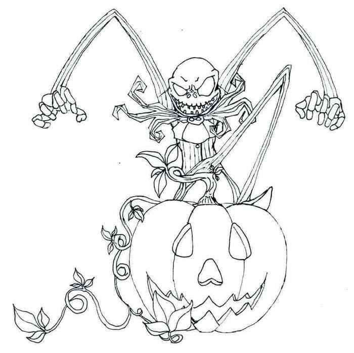 30+ Jack skellington coloring page free HD