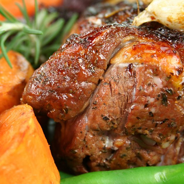 A tender and delicious roasted lamb recipe.. Grilled Lamb with Roasted Potato Wedges Recipe from Grandmothers Kitchen.