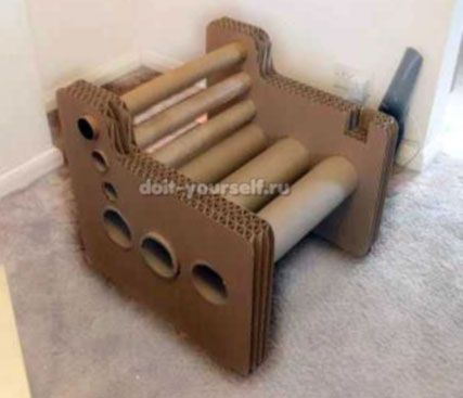 Картонная мебель: пошаговая инструкция