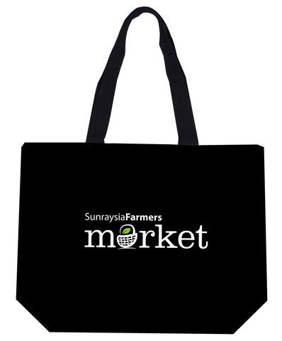 Heavy Cotton / Canvas Farmers Market Black Bag Can-Mkt-Bk