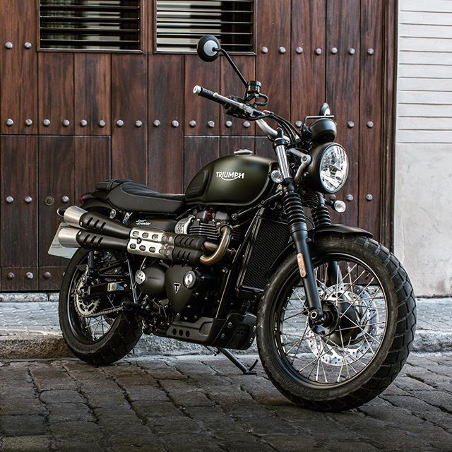 "motorcycles-and-more: "" 2017 Triumph Street Scrambler"" Find amazing custom bikes HERE"