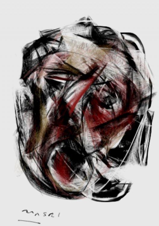 MASRI (©2012 artmajeur.com/artworksmasri) Screaming -Syria series