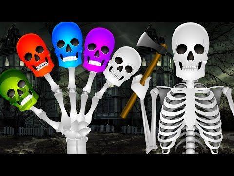 Skeleton Dinosaur Finger Family Rhyme | Funny Colors Skeleton Rhymes | Kids Preschool Nursery Rhymes - YouTube