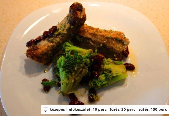 Sertésborda vörösbabos brokkolival