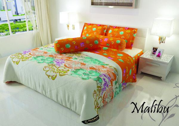 "MALIBU - ""Terinspiriasi dari motif bunga yang cerah bersuasana HOLIDAY, Malibu menjadi pilihan tepat buat anda pecinta warna muda dan abstract bunga yang unik untuk menambah koleksi Kintakun Bed Cover nya"""
