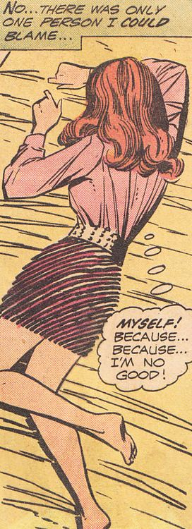 "Comic Girls Say.. "" myself..because I m no good.."" #vintage #comic                                                                                                                                                                                 More"
