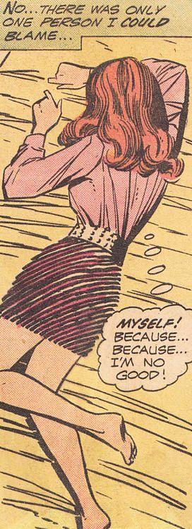 """Comic Girls Say.. """" myself..because I m no good.."""" #vintage #comic"""