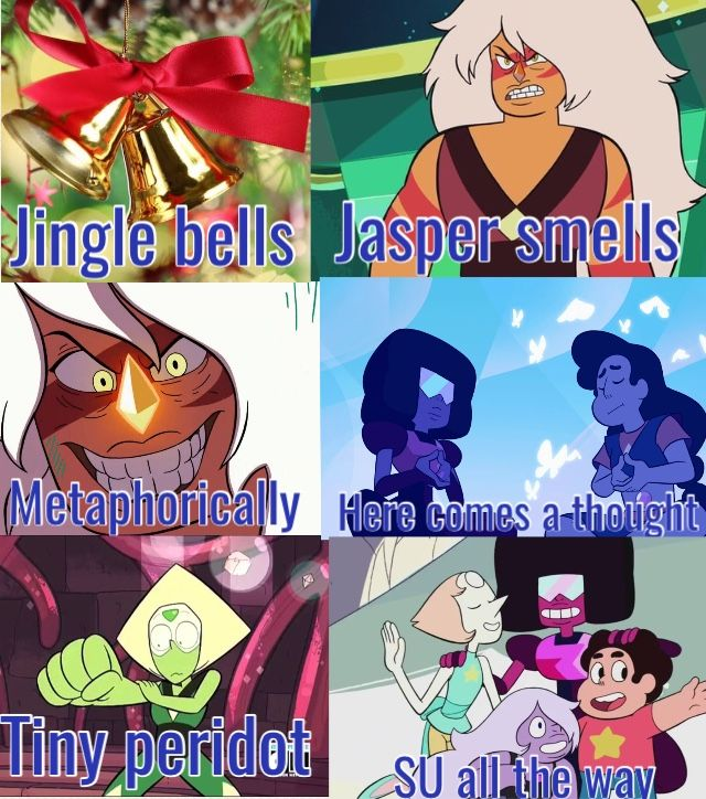 Steven Universe jingle bells , jingle bells parody , Steven universe song , Steven universe inspired song , I don't own Steven Universe. I made this on pic collage.
