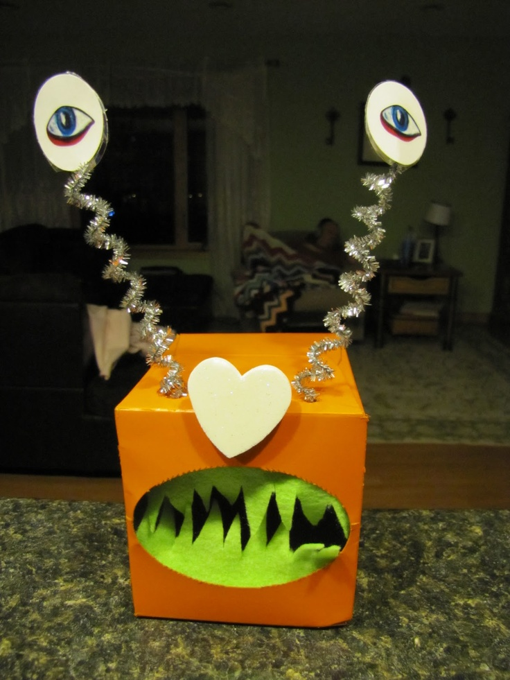91 best images about Farrells monster boxes – Pinterest Valentine Cards for School