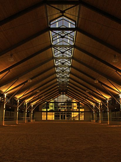 Ambient lighting in the training center at the Cavalli Estate gives off a beautiful glow at night. What I wouldn't give to have a gorgeous facility like that!
