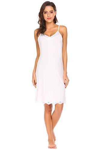 eb0c002074 Zouvo Sexy Nightgown Women s Sleepwear Lace Full Slip One Piece Lingerie S- XL