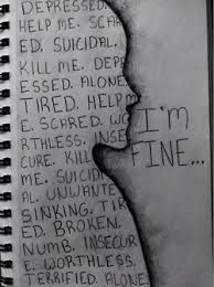 depressed girl drawings - Google Search
