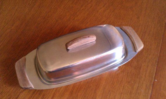 Vintage Modern Butter Dish Denmark stainless by JessFindsVintage, $12.00