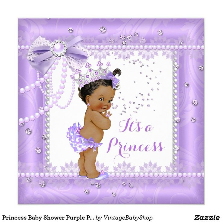 39 best Purple Lilac Girl Baby Shower Invitations images on ...