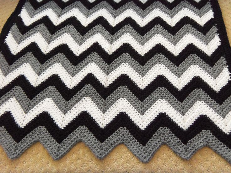 black white and grey crochet afghans | color gray we decided to go with black white and gray for the color ...