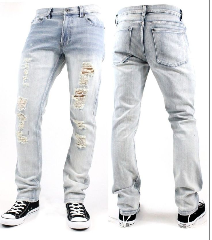 Mens Slim Ripped Jeans | Bbg Clothing