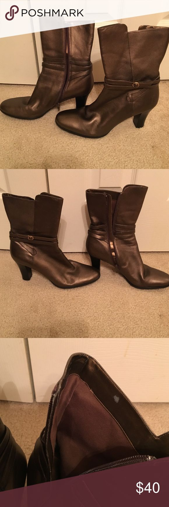 Gold/pewter color worthington ankle boots Nice worthington ankle boots Worthington Shoes Heeled Boots
