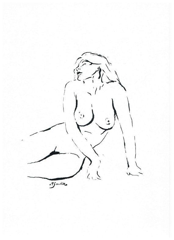 Original Ink Sketch Made to Order Hand Made Replica by NudeSpirit