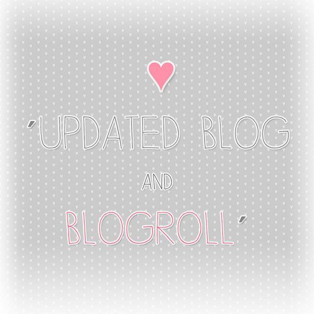 Blog Update & Blogroll <3   Flickr - Photo Sharing!