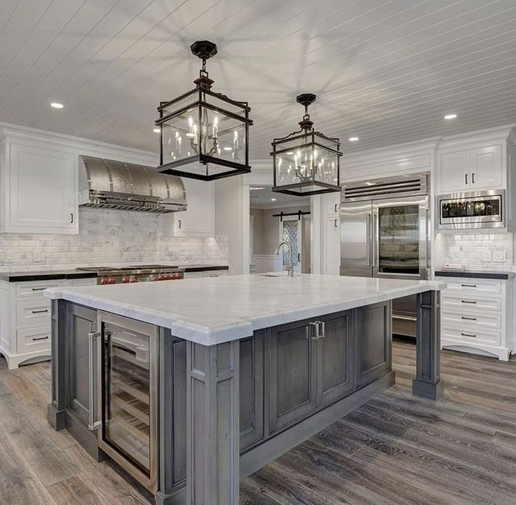 Beautiful kitchen Island and flooring  Dream home  Pinterest  Beautiful kitchen Kitchens and