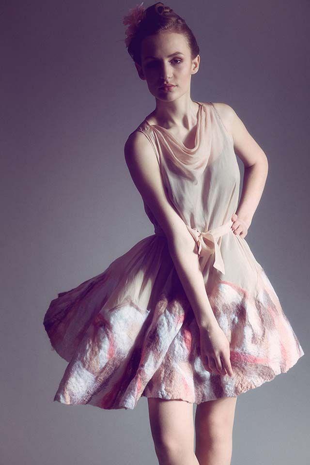 Olga Pokrywka fashion collection  #wool #merino #nunofelt #artfashion #artaporter