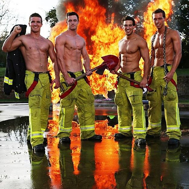 Say G'day to the firefighters of New South Wales. | 15 Sizzling Hot Pictures Of Australia's Fittest Firefighters
