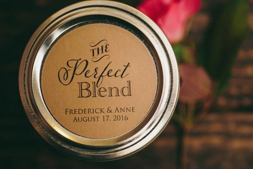 "Coffee Wedding Favor Idea from Backyard Beans Coffee Co. - ""The Perfect Blend"""
