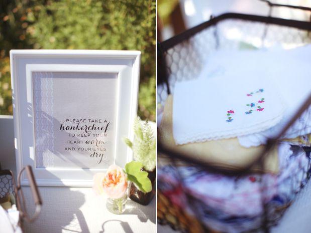 calligraphy: Wedding Favors, Bash Plea, Cute Ideas, Parties Ideas, Cupcakes And Cashmere, Wire Baskets, Vintage Handkerchiefs, Wedding Details, Wedding Ceremony