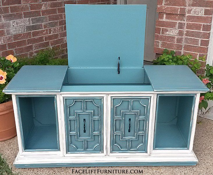 Hutches, Cabinets U0026 Buffets   Painted, Glazed U0026 Distressed. Stereo CabinetHutch  CabinetVintage ...