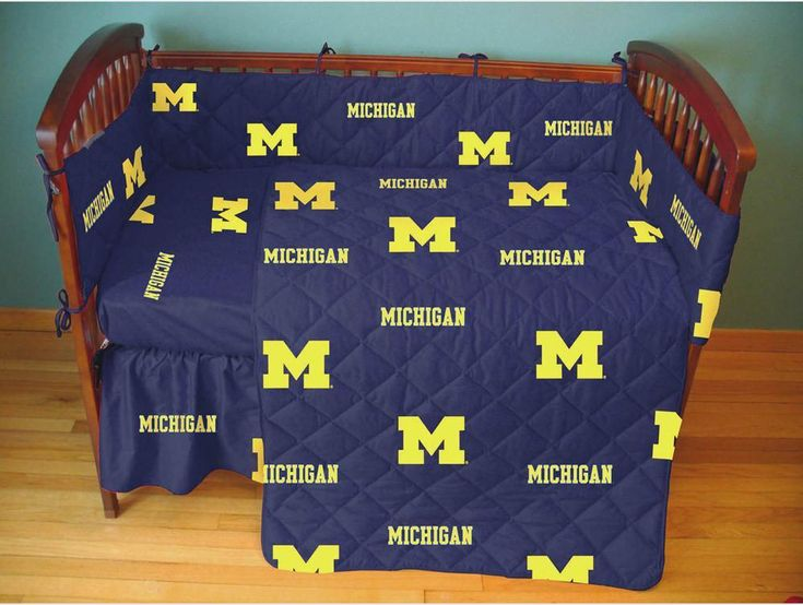 Michigan 5 piece Baby Crib Set - MICCS by College Covers