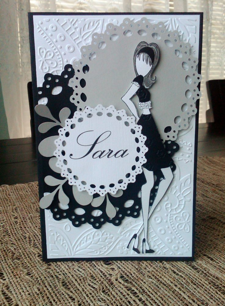 Personalized Birthday Card using Julie Nutting Stamp