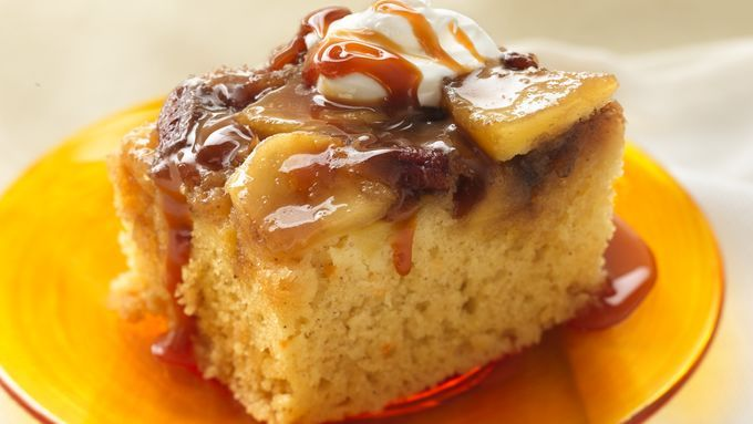 Serve this yummy apple upside-down cake warm from the oven. It's all made easier…