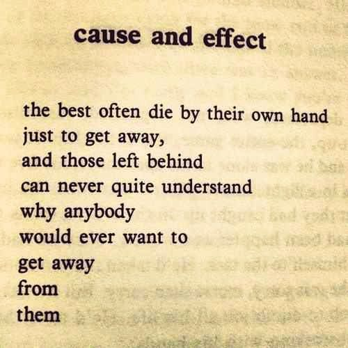 Cause and effect on teenage suicide