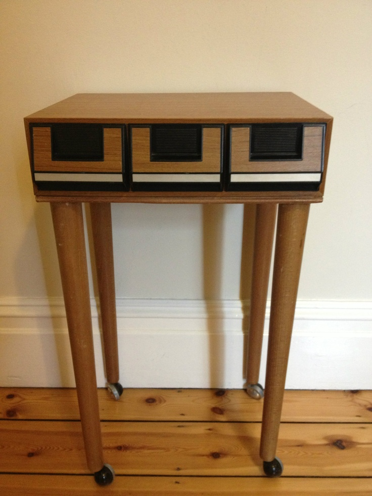 Retro Style Container Bedside Table