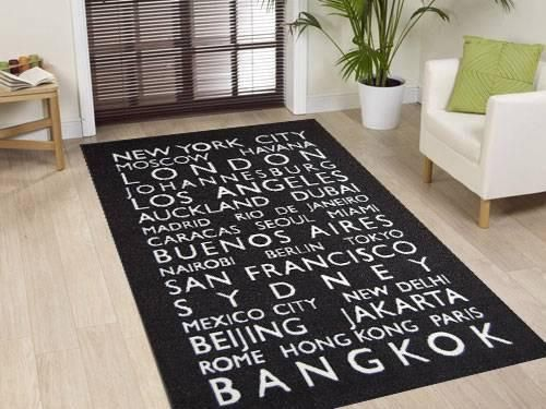 World Cities Rug Size: 150 x 220cm