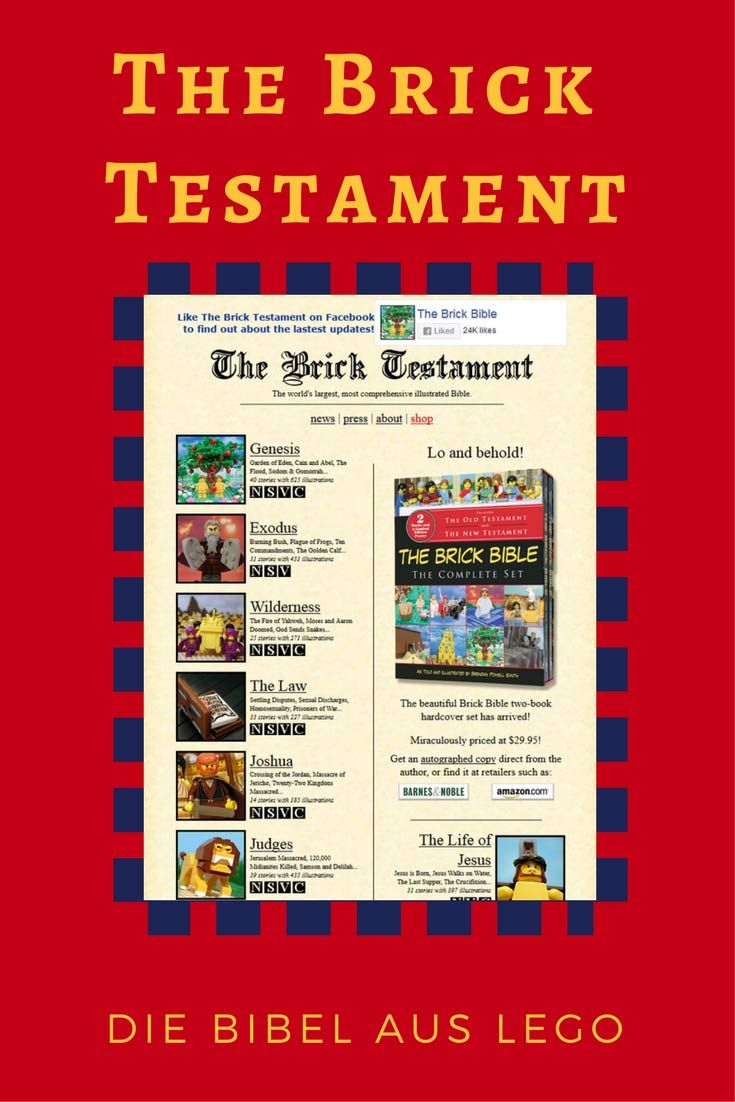 Die Bibel aus Lego – Altes und Neues Testament ganz anders