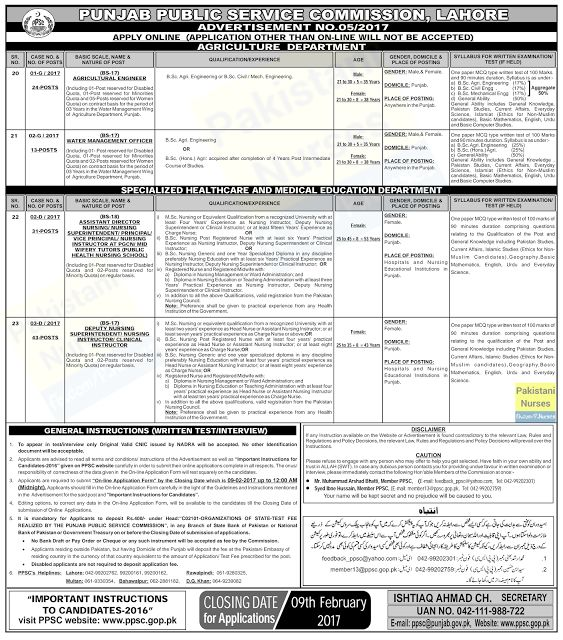 Posts Of Bps And  Posts Of Bps  Through Punjab Public
