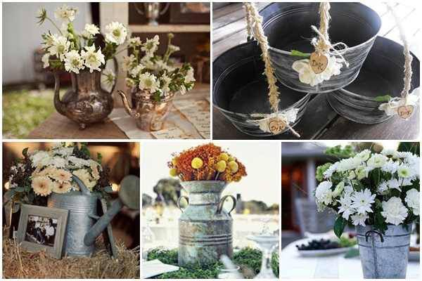 Best galvanized wedding ideas images on pinterest