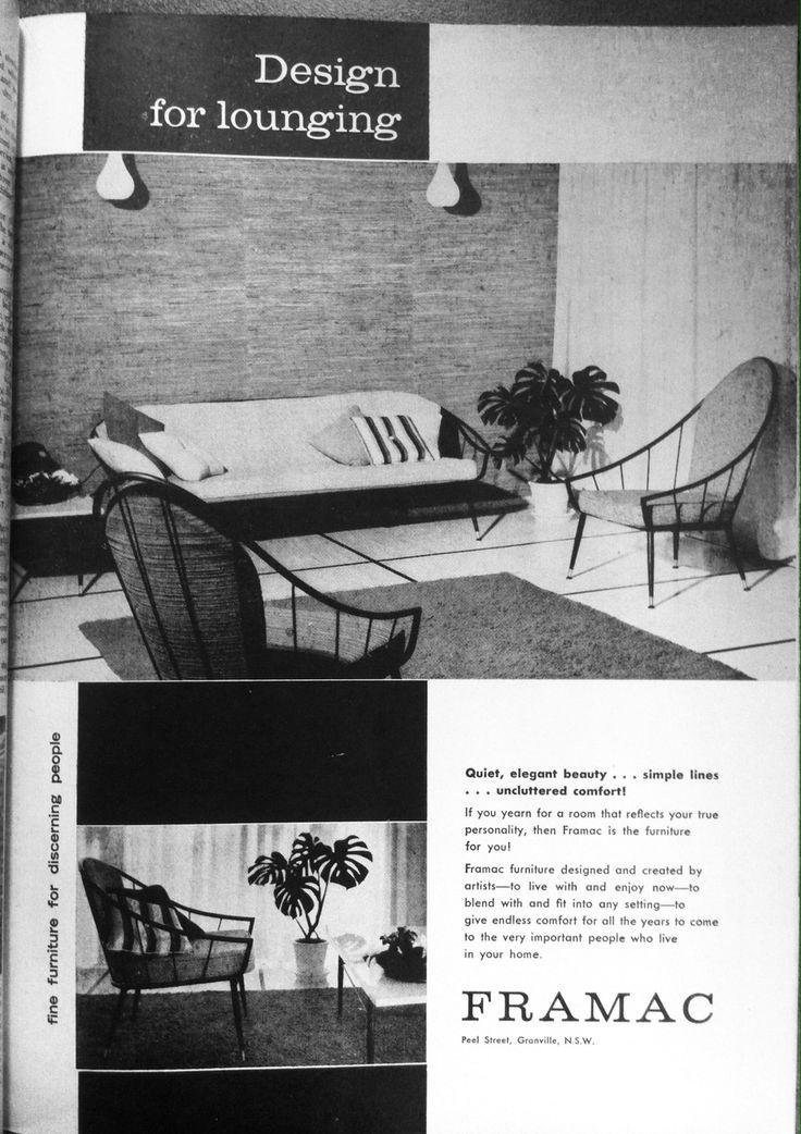 Framac advertisement. Australian House and Garden, February 1962.