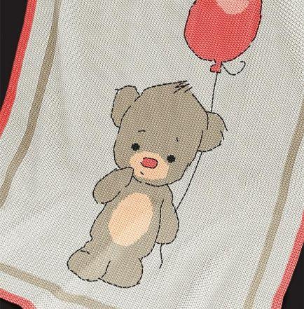Knitting Pattern | Baby Blanket / Afghan - Baby Bear