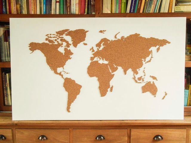 DIY: Wereldkaart in kurk (met uitleg)