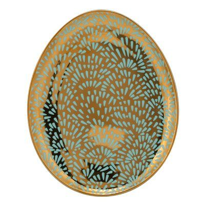 Ten Strawberry Street Kensington Egg App Bread and Butter Plate (Set of 6) Color: Turquoise