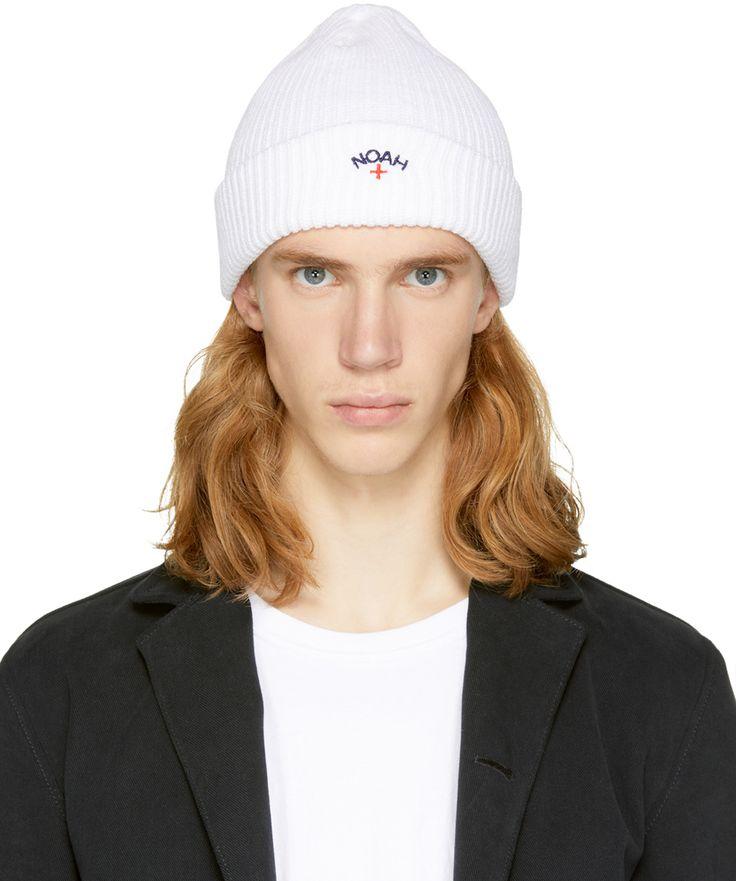 Noah NYC - White Core Logo Beanie