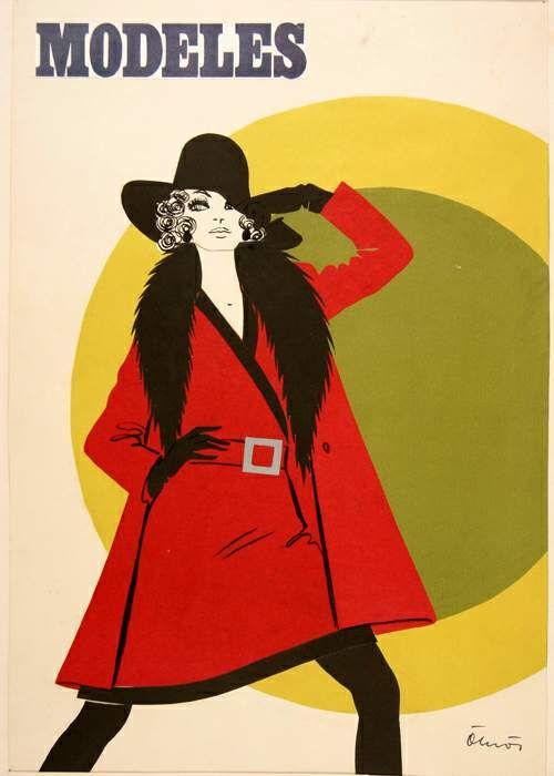 Ökrös Zsuzsa Modell rajz, kollázs, 1968